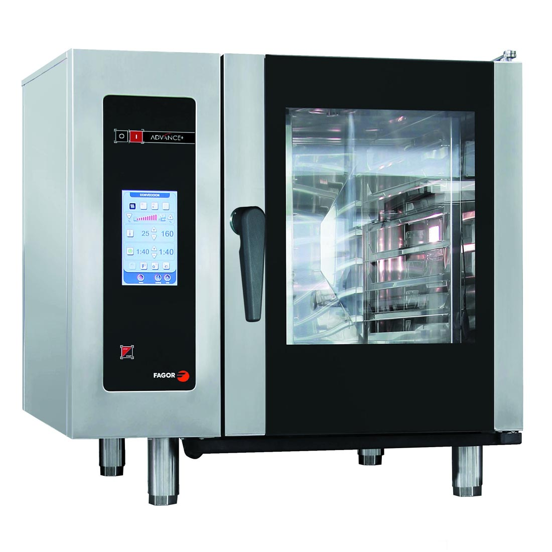 Fagor Advanced Plus Electric 6 Trays Touchscreen Control Combi Oven APE-061