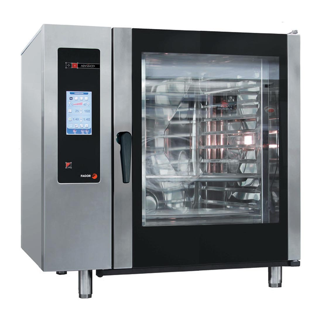 Fagor Advanced Plus Gas 10 Trays Touch Screen Control Combi Oven with Cleaning System - APG-101