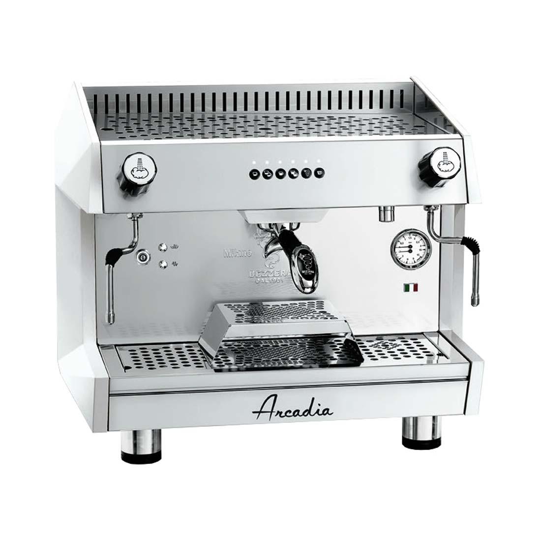 ARCADIA Professional Espresso coffee machine SS polish white 1 Group - ARCADIA-G1