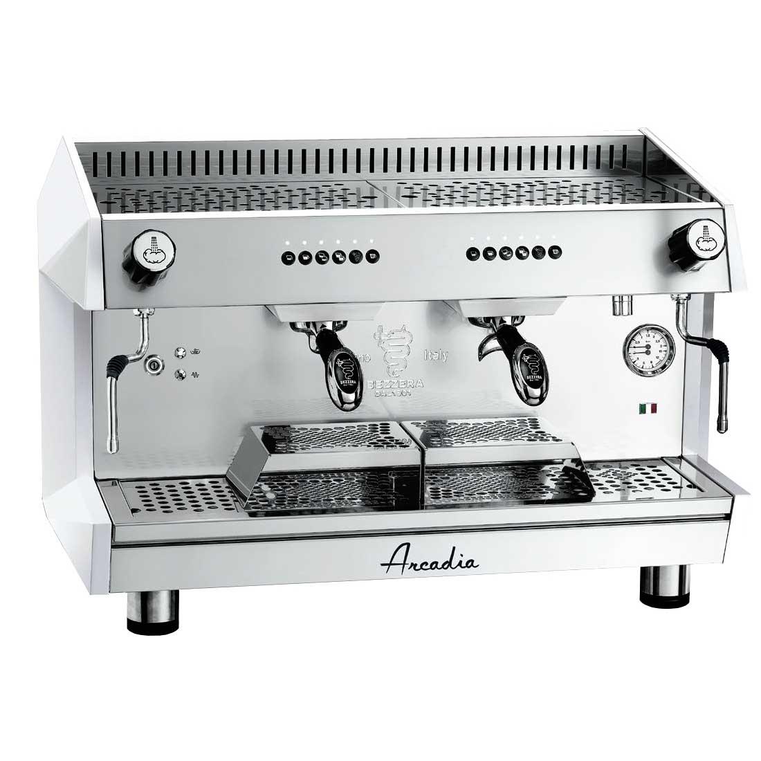 ARCADIA Professional Espresso coffee machine SS polish white 2 Group - ARCADIA-G2