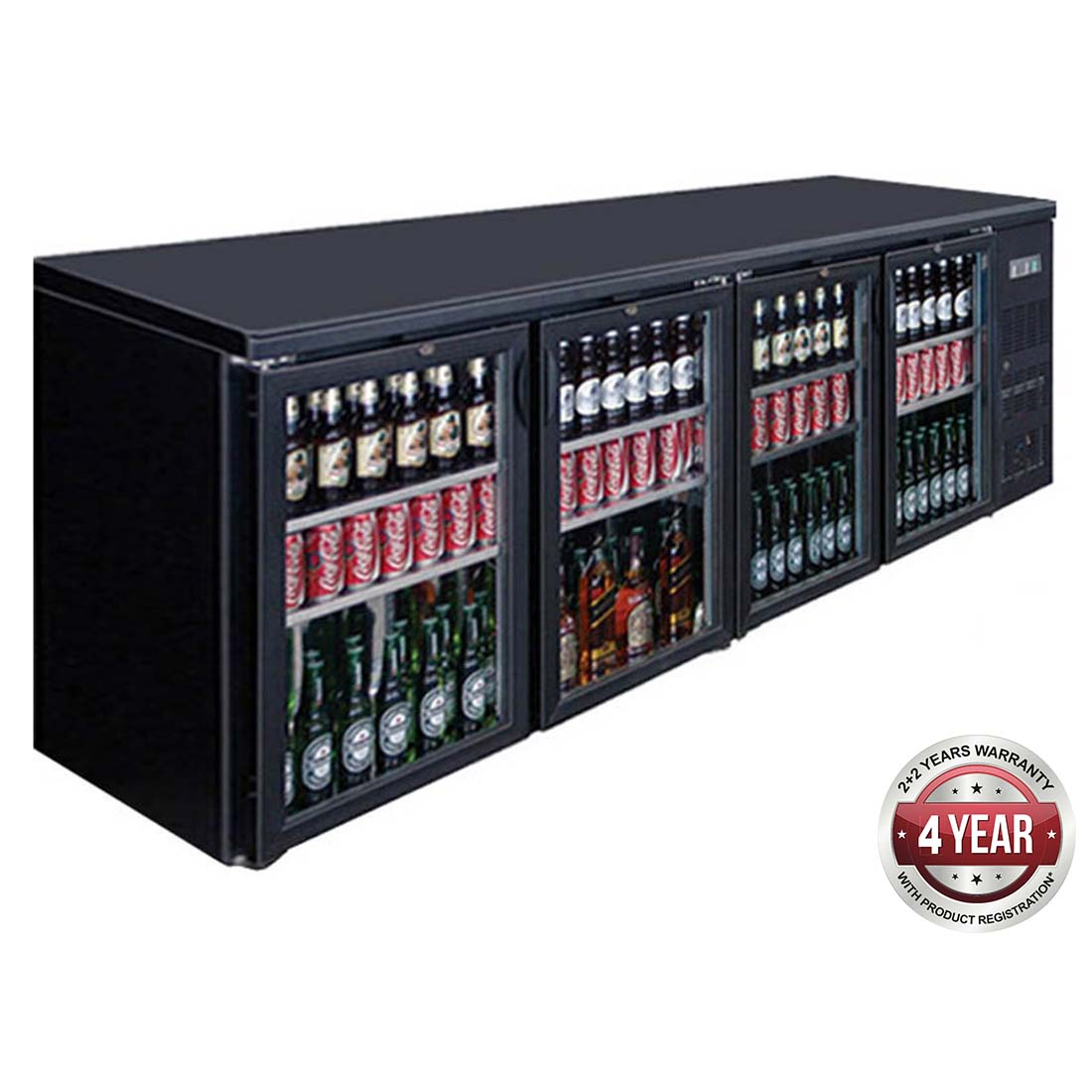 BC4100G Four Door Drink Cooler