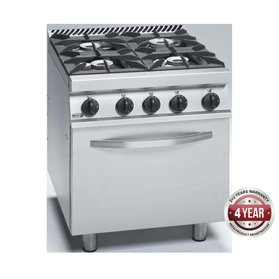 Fagor Stainless Steel Gas Range with Electric Oven - CGE7-41H