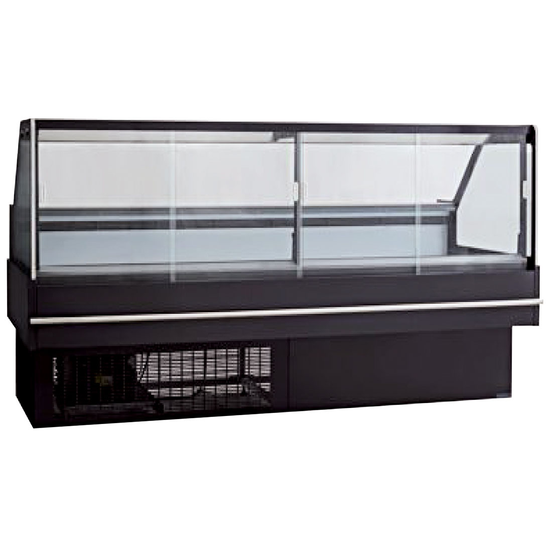 Square front glass hot deli display - DD2000SH