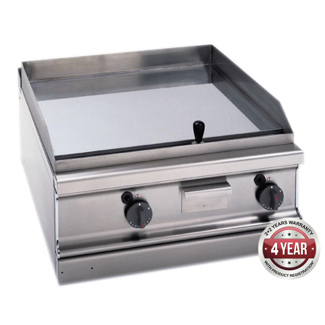 Fagor 700 series natural gas chrome 2 zone fry top with thermostatic control FTG-C7-10L