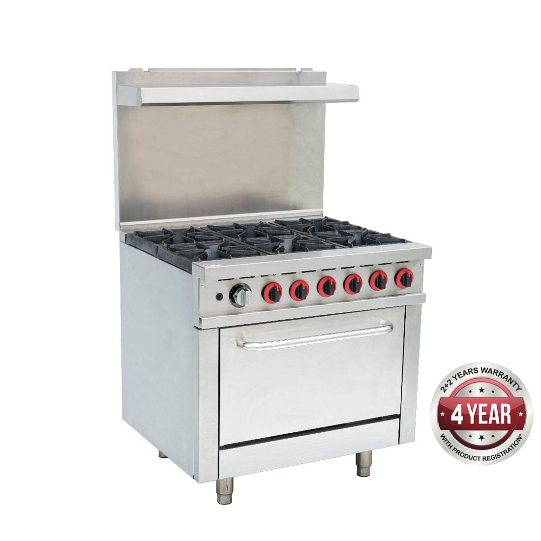 GBS6TLPG Gasmax 6 Burner With Oven Flame Failure