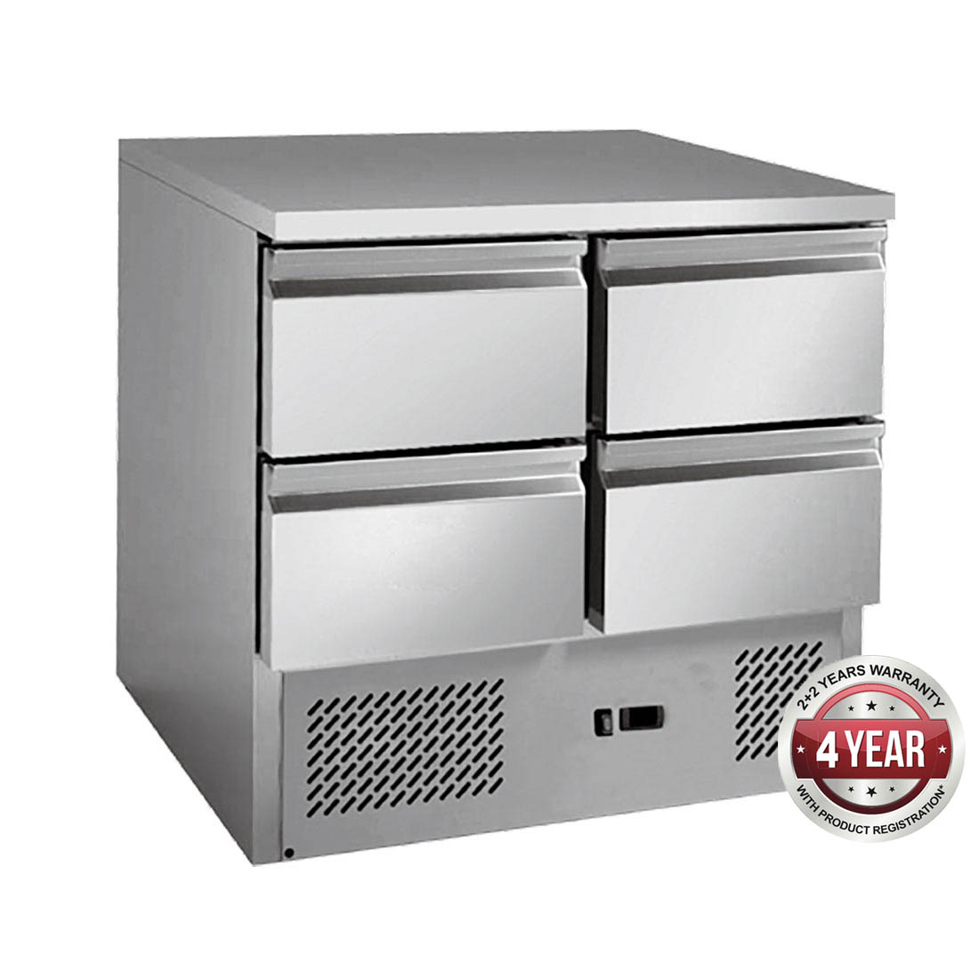 Stainless steel 4 Drawers Benchtop Fridge - GNS900-4D