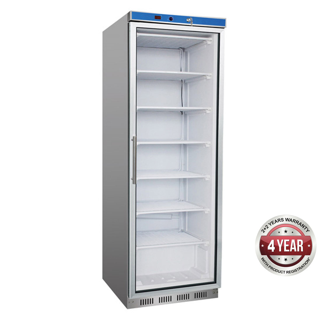 HF400G S/S Display Freezer with Glass Door