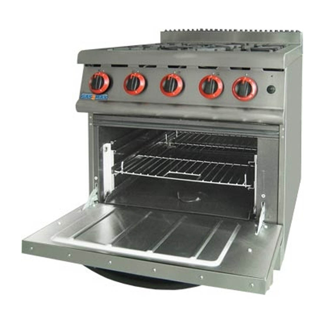 JZH-RP-4(R) GASMAX Natural Gas Four Burner Top On Oven