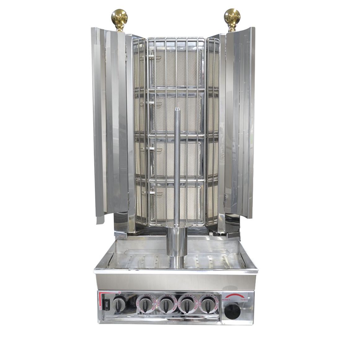 KMB4E Semi-automatic Kebab with Natural Gas 4 Burner