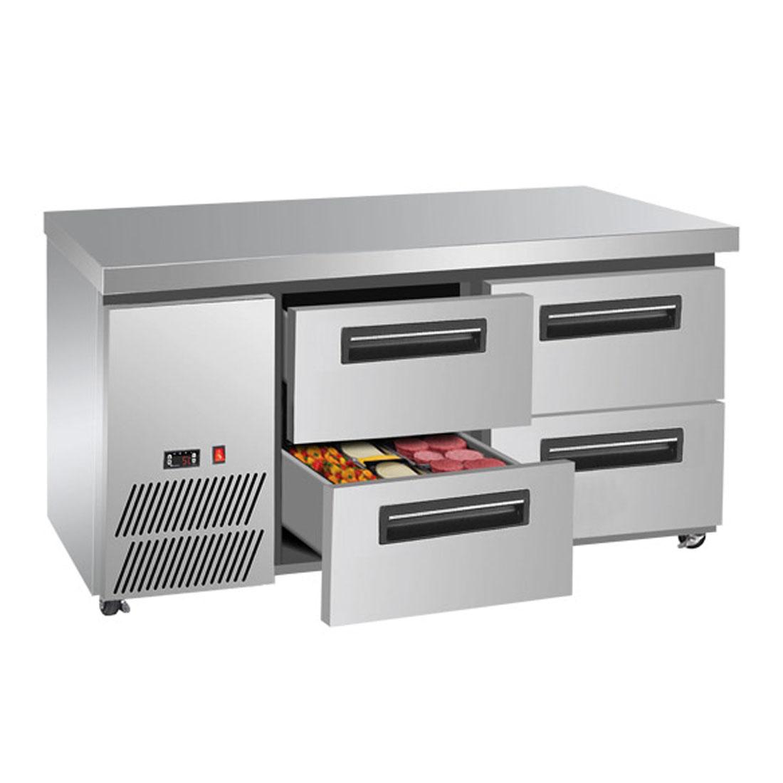 LBC125 Four drawer Lowboy Fridge