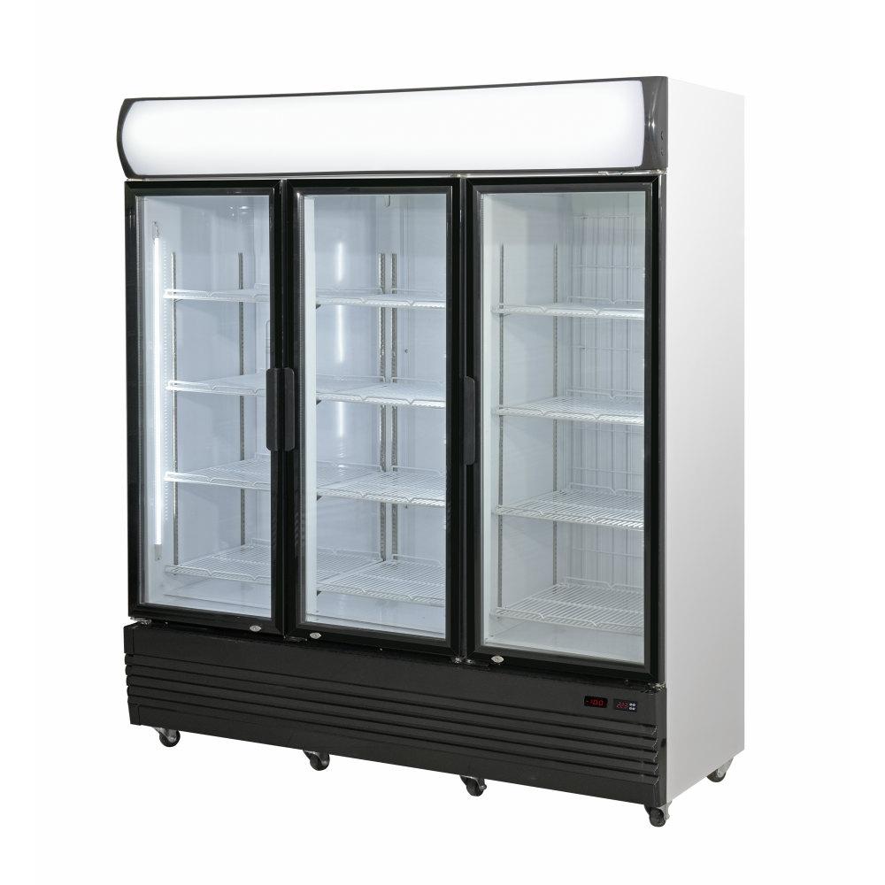 Triple Door Upright Glass Door Combined Fridge & Freezer LG-1500GEF