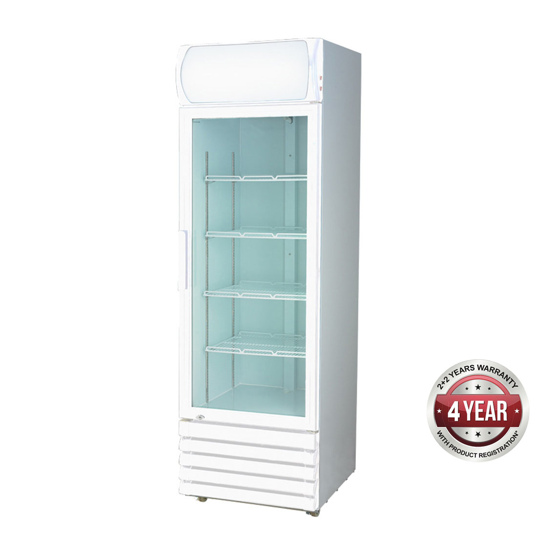 LG-370GE Single Glass Door Colourbond Upright Drink Fridge