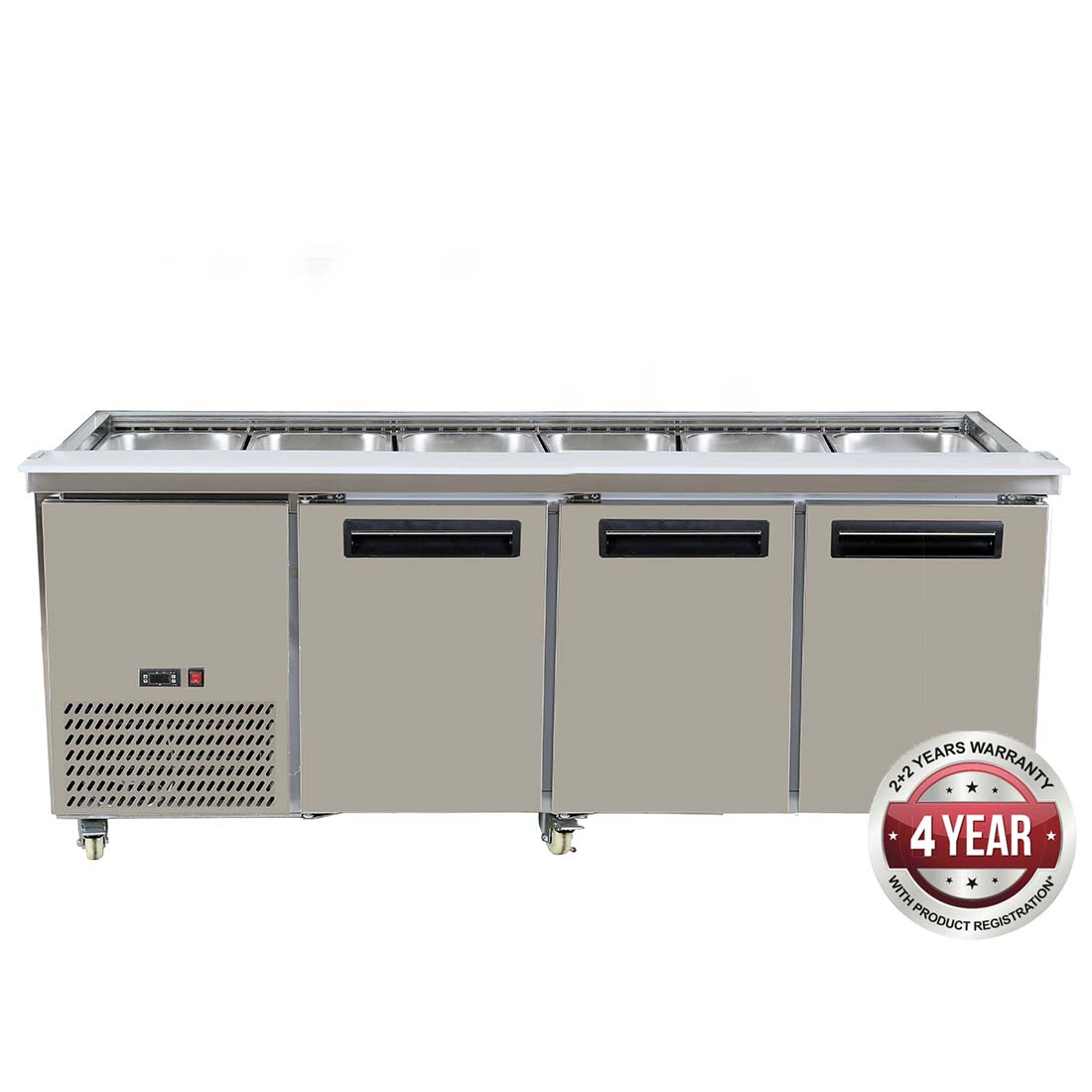 PG210FA-B Bench Station Three Door - 6× 1/1 GN Pans