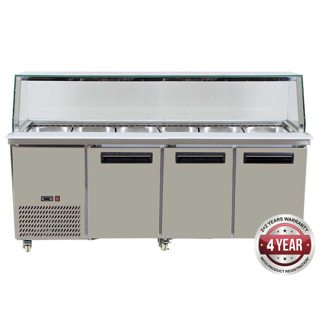 FED Cold Salad & Noodle Bar 6x1/1 GN Pans - PG210FA-YG
