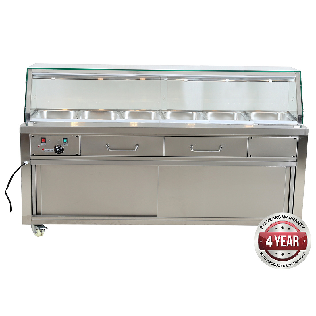 Heated Bain Marie Food Display - PG210FE-YG