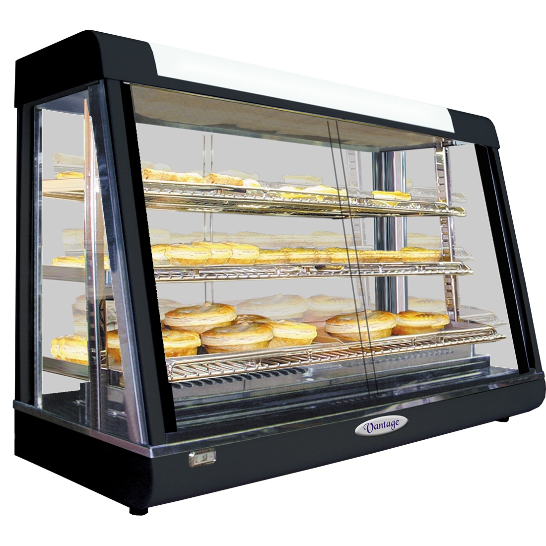 Pie Warmer & Hot Food Display - PW-RT/660/TG