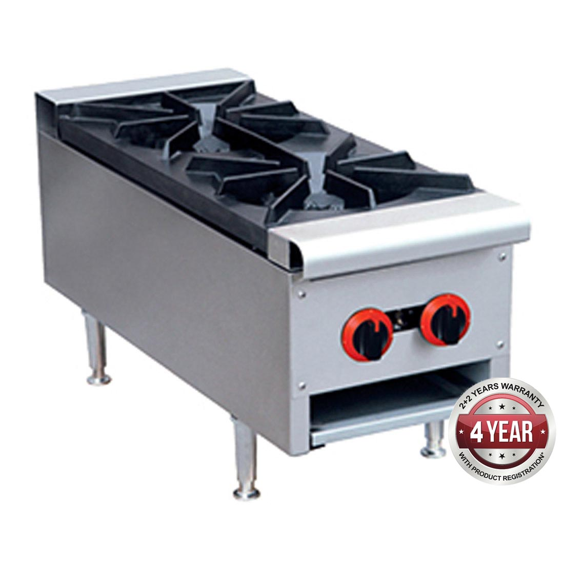Gas Cook top 2 burner with Flame Failure- RB-2E