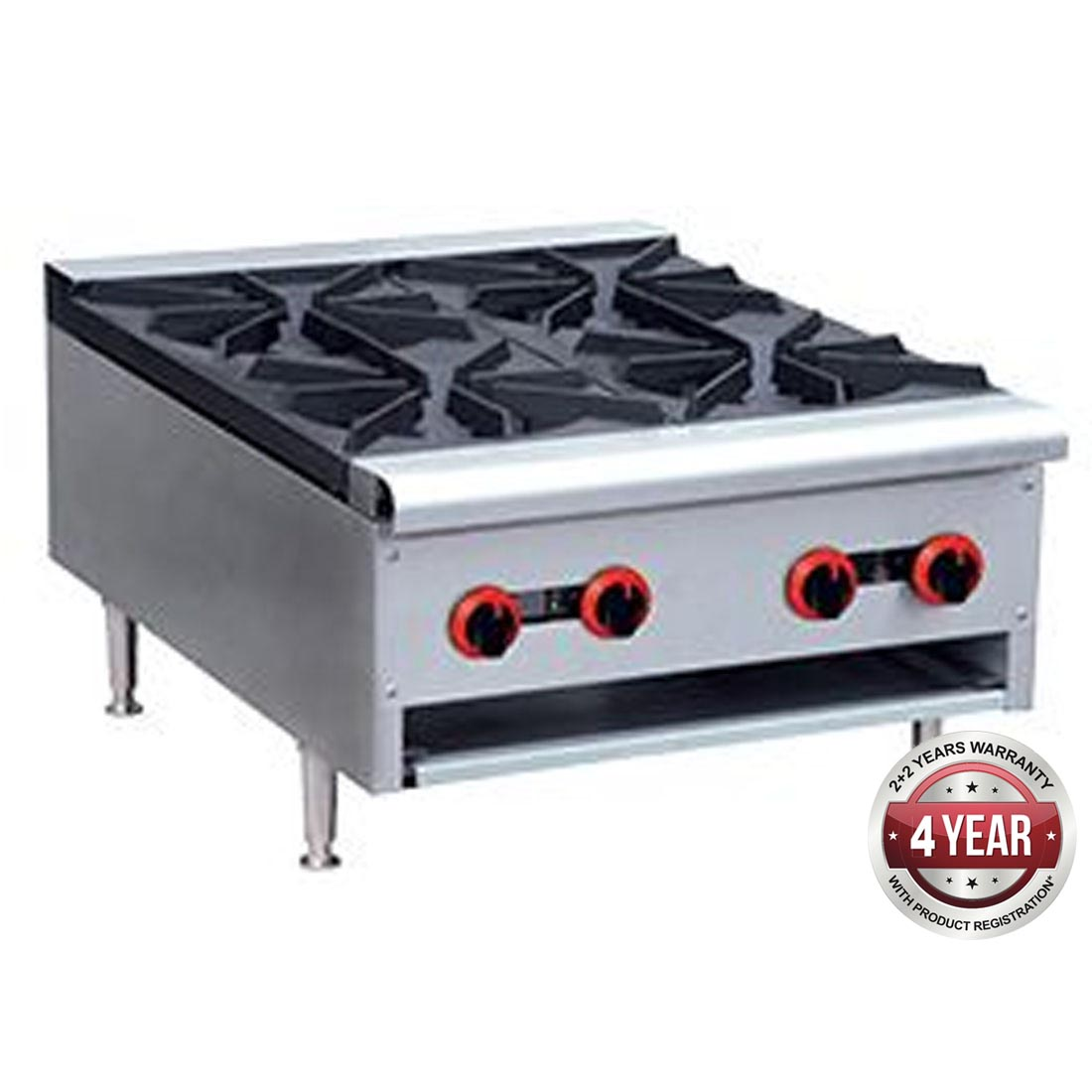 Gas Cook top 4 burner with Flame Failure - RB-4ELPG