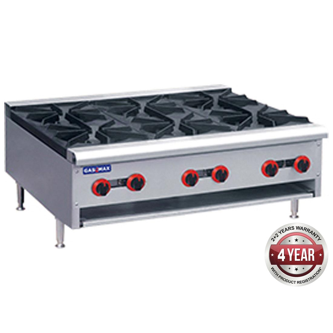 Gas Cook top 6 burners LPG  with Flame Failure - RB-6ELPG