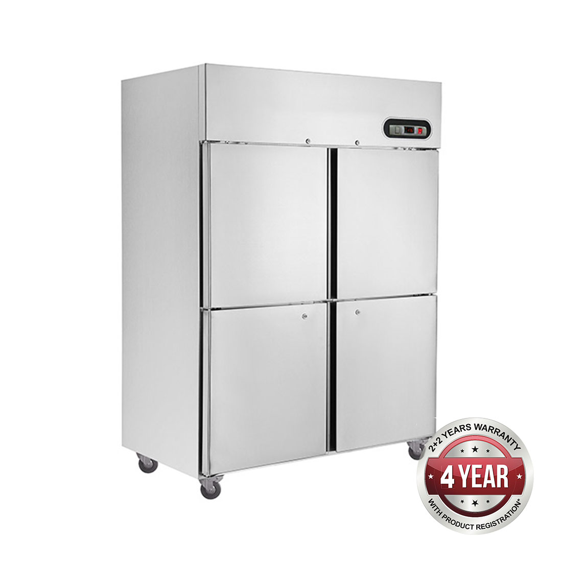 SUC1000 TROPICAL Thermaster 4 x ½ door SS Fridge