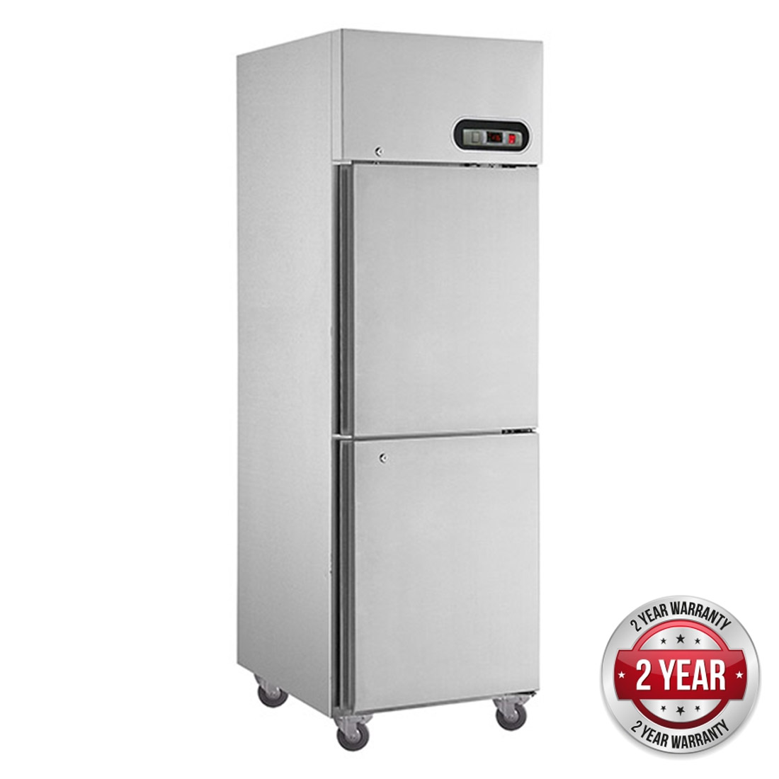 SUC600 TROPICAL Thermaster 2 x ½ door SS Fridge