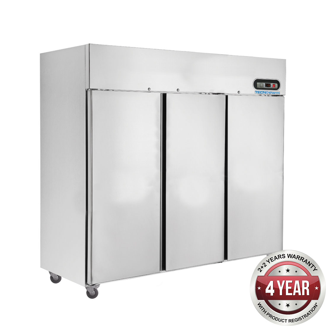 SUF1500 Three Door SS Upright Display Freezer