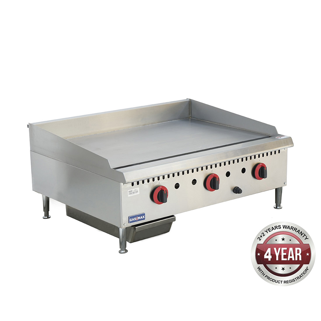 GG-36 Three burner NG Griddle Top