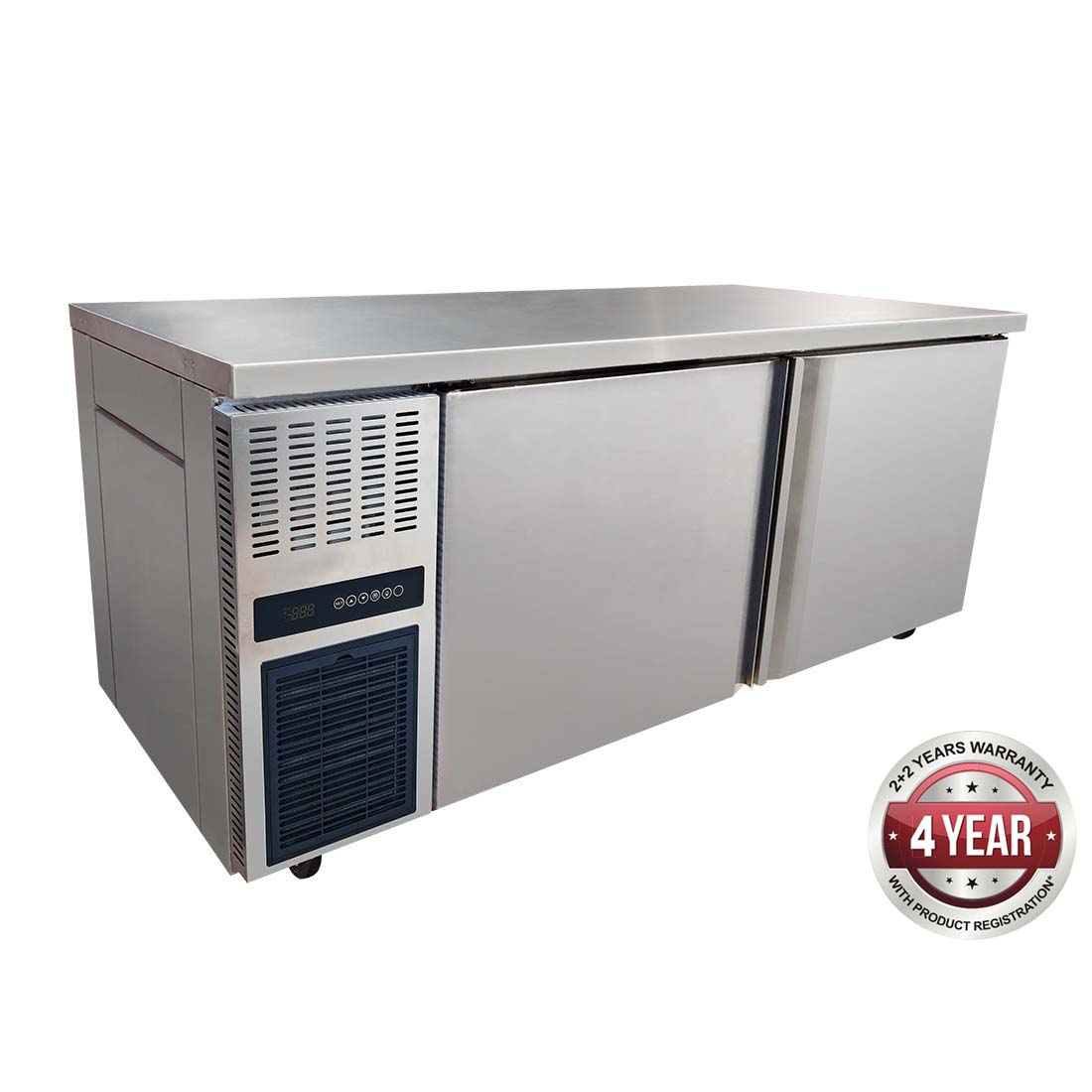 Stainless Steel Double Door Workbench Freezer - TS1800BT