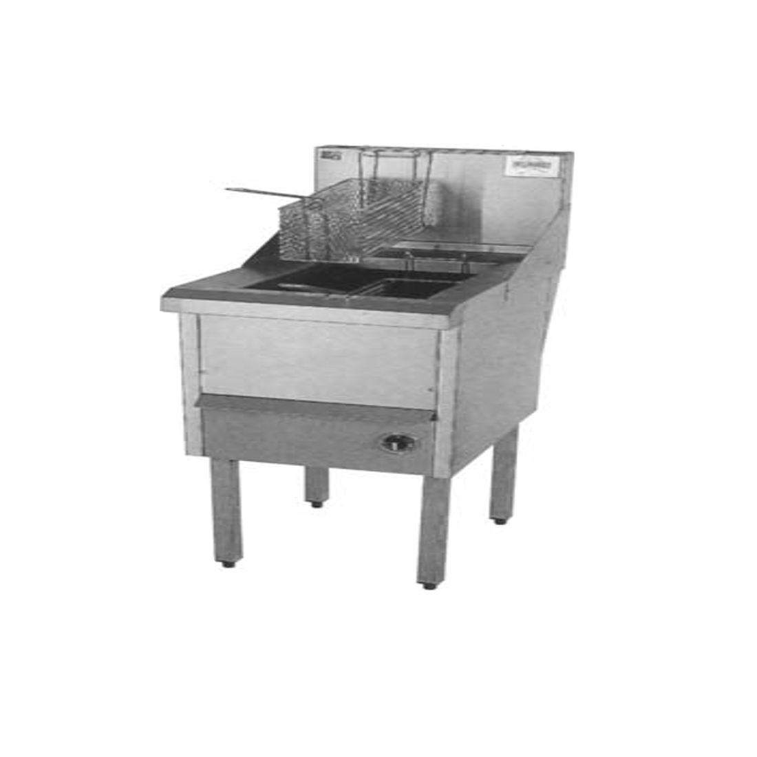 Gas Fish and Chips Fryer Single Fryer -  WFS-1/18