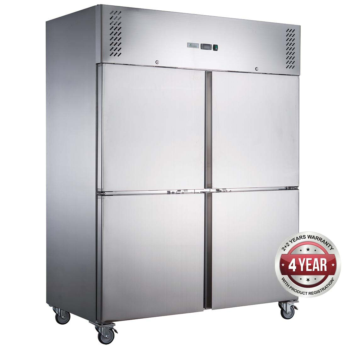FED-X S/S Four Door Upright Fridge - XURC1410S2V