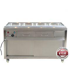 Heated Bain Marie Food Display - PG150FE-YG