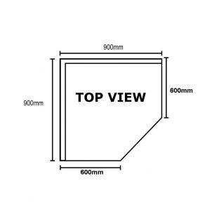 0900-6-WBCB/H - Corner Workbench with 100mm Splashback, 900x900x900mm