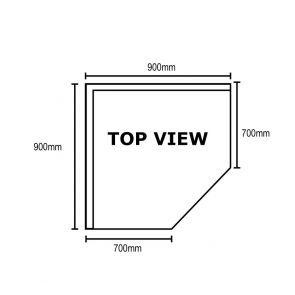0900-7-WBCB/H - Corner Workbench with 100mm Splashback, 900x900x900mm