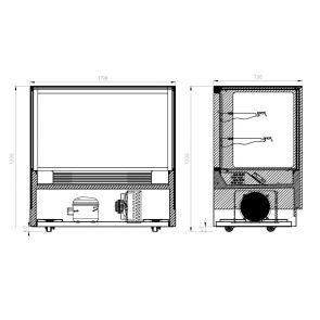 Modern 2 Shelves Cake or Food Display - GAN-1200RF2