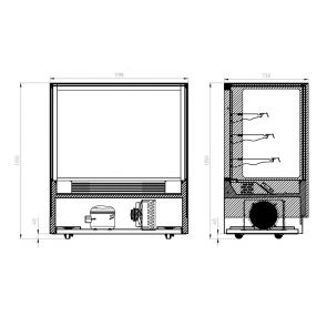 Modern 3 Shelves Cake or Food Display - GAN-1200RF3