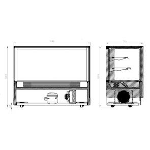Modern 2 Shelves Cake or Food Display - GAN-1500RF2