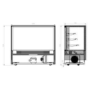 Modern 3 Shelves Cake or Food Display - GAN-1500RF3
