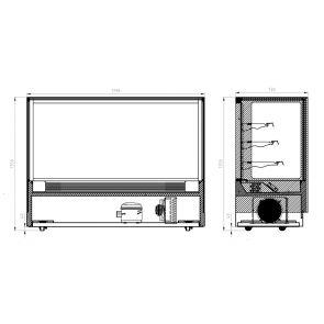 Modern 3 Shelves Cake or Food Display - GAN-1800RF3