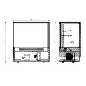 Modern 3 Shelves Cake or Food Display - GAN-900RF3
