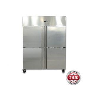 GN1200TNM GRAND ULTRA Four 2/1 S/S Door Upright Fridge