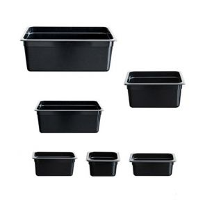Black Poly 1/6 Gastronorm Pan