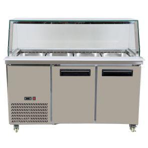 PG150FA-YG Cold Salad & Noodle Bar 4x1/1 GN Pans