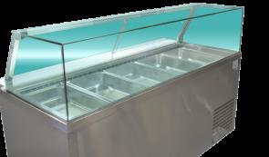 PG180FA-YG Cold Salad & Noodle Bar 5x1/1 GN Pans