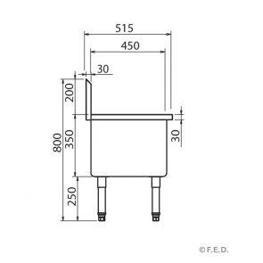 Single Mop Sink - SMS-H