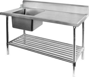 Ex-Showroom: Left Inlet Single Sink Dishwasher Bench SBBD-7-1800L
