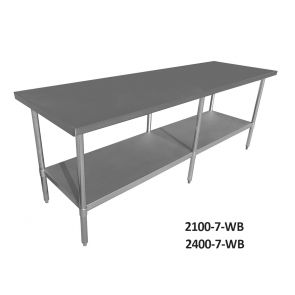 Economic 304 Grade Stainless Steel Tables 700 Deep - SSTable7-EC