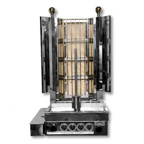 KMB4E Semi-automatic Kebab with Natural Gas 4 Burner