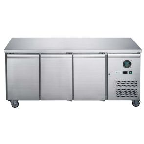 FED-X S/S Three Door Bench Freezer - XUB7F18S3V