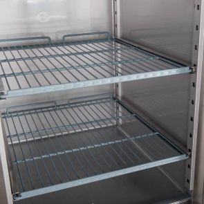 FED-X S/S Two Full Glass Door Upright Fridge - XURC1410G2V