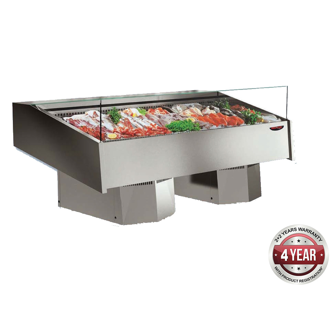 Multiplexable Serve-over Refrigerated Fish Open Display 1540mm - FSG1500